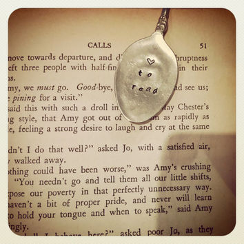 Vintage Tea Spoon Bookmark/Page Clip - Love to Read