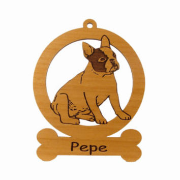French Bulldog Sitting Ornament 083202 Personalized With Your Dog's Name