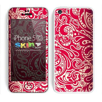 Red Paisley Pattern Skin For The iPhone 5c