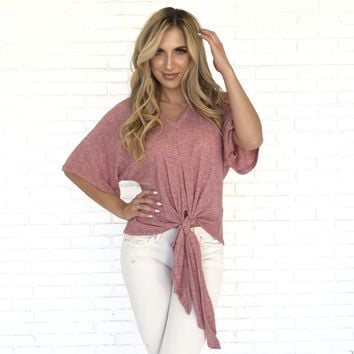 Tie The Knot Top In Pink