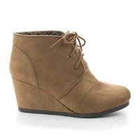 Lace up Oxford Ankle Bootie