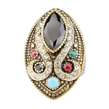 Turkish Empire Bejeweled Cocktail Ring