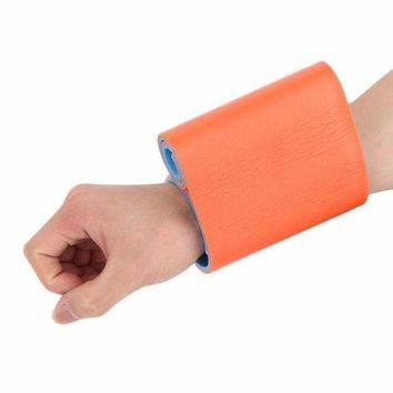 ONETOW 1pc High polymer Medical Multi-use Type aluminum Training Splint fixed first aid bandage roll Orange and blue 11*46cm/11*92cm