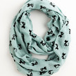 ModCloth Cats Cat Person Circle Scarf in Mint