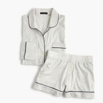 Knit pajama set in heather cloud