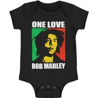Bob Marley Boys' One Love Bodysuit Black