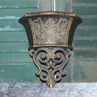 Dart bronze wall pocket, sconces, wall decor, planter vase, gold decor, Medieval decor