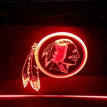 b-183 Washington Redskins beer bar pub club 3d signs LED Neon Light Sign man cave