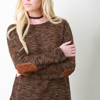 Cozy Quilted Elbow Knit Sweater