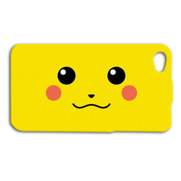 Funny Pikachu iPhone Case Cute Pokemon iPhone Case Silly iPod Case iPhone Case iPhone 4 iPhone 5 iPhone 4s iPhone 5s iPhone 5c iPod 4 iPod 5