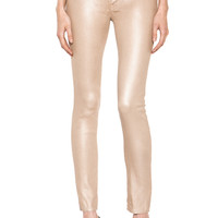 Koral | Stretch Metallics Skinny in Champagne www.FORWARDbyelysewalker.com