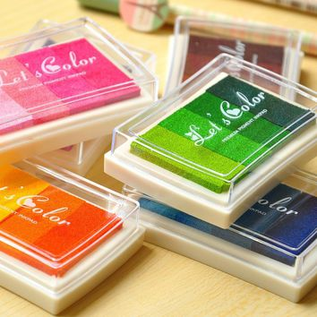 12pcs/lot Craft Ink Pad Mix Color/Let's Color DIY Inkpad/ink Pad Set/scrapbooking Stamp Freeship Funny Gifts K621
