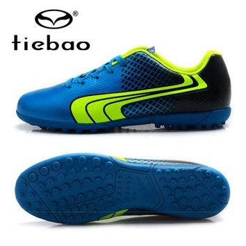 TIEBAO Professional Soccer Shoes Women Men Chuteiras Futbol Outdoor Sports TF Turf Soles Sneakers Teenagers Soccer Cleats Boots