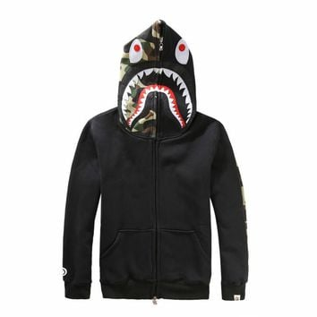 Boys & Men Shark Hoodies Zipper Cardigan Jacket Coat