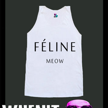 worldwide shipping just 7 days Feline Meow shirt singlet tank top 10374