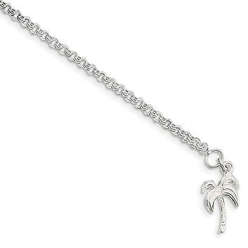 925 Sterling Silver 3mm Solid Polished Palm Tree Chain Necklace, Bracelet or Anklet