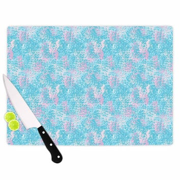 "Carolyn Greifeld ""Painterly Pastels"" Blue Painting Cutting Board"