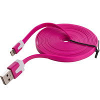 Hot Pink Noodle Lightning Data Sync Cable Charger (10FT) for Apple iPhone 5C