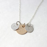 couple necklace, ampersand necklace, you and me, mom necklace, initial necklace, personalized gift for mom, mommy and me, wedding gift