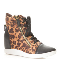 Laced Up Leopard Sneaker