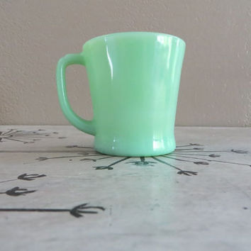 1940s Jadite Fire King Mug D Handle Mug Vintage Jadite Jadeite Mug Jadite Glass Mint Green Collectible Jadite Jadite Cup D Handle Cup