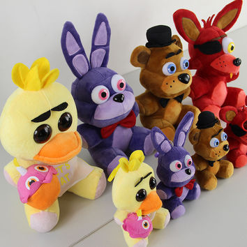 Five Nights at Freddy's 4 Bear Chica Foxy Bonnie Fnaf Wolrd Freddy Fazbear Plush Stuffed Animal Doll