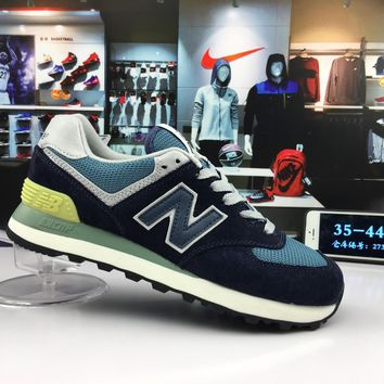 original new balance 574 nb574 navy blue for men women breathable running shoe