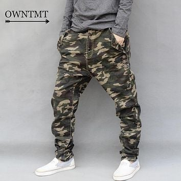 2017 New Fashion Men Jeans Pants Man Camouflage Elastic Harem Demin Cross-Pants Man Hip Hop Streetwear Skinny Pants 6XL 7XL Plus