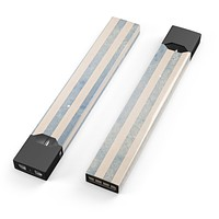 Skin Decal Kit for the Pax JUUL - Faded White and Blue Vertical Stripes