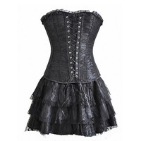 Gothic Steampunk Dress (3-pc Set)