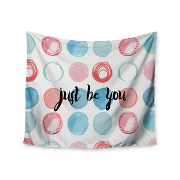 "KESS Original ""Just Be You"" Blue Pink Wall Tapestry"