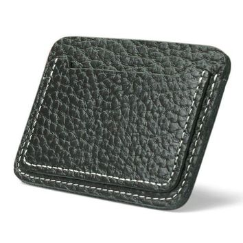 ICIKU7Q small zip wallet card holder Men Leather wallets for plastic cards Clutch Coffee Black color  Drop shipping #7m
