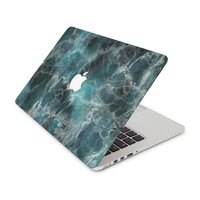 Teal Blue Marble Skin for the Apple MacBook