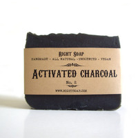 Activated Charcoal Soap Vegan Soap Unscented Soap by RightSoap