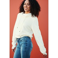 So Serious Cowl Neck Sweater (Ivory)
