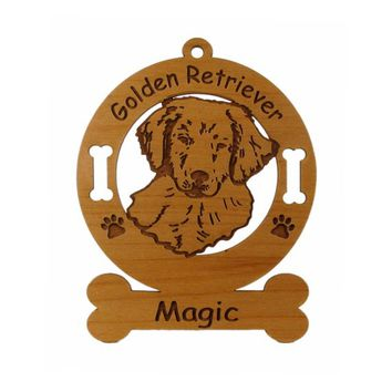3261 Golden Retriever Pup Personalized Ornament - Free Shipping