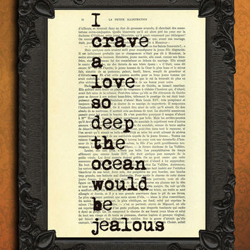 love quote dictionary art - love quote book page