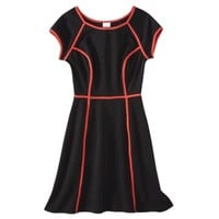 Xhilaration® Juniors Fit & Flare Knit Dress with Contrast Piping - Assorted Colors
