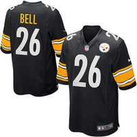 Mens Pittsburgh Steelers Le'Veon Bell Nike Black Game Jersey