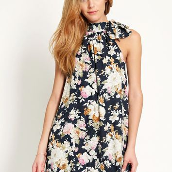 Dining In Floral Dress | Ruche