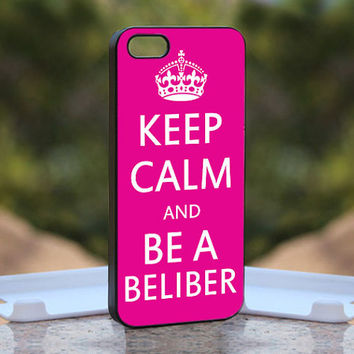 Keep Calm and Be A Beliber MQL0205 - Design available for iPhone 4 / 4S and iPhone 5 Case - black, white and clear cases