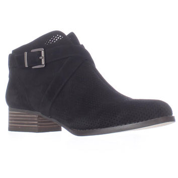 Vince Camuto Casha Perforated Ankle Booties - Black