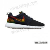 Custom Roshes- Jamaican Rasta Print Nike Roshe Run - Women, Men, Kids