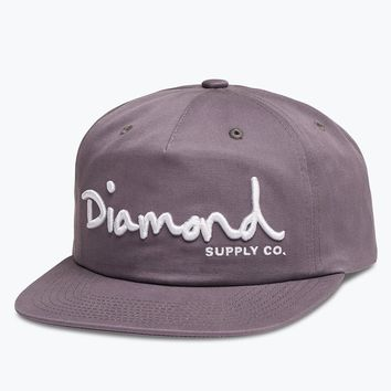 Diamond Supply Co. - OG Script Deconstructed Snapback - Purple