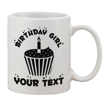 Personalized Birthday Girl Cupcake -Customizable- Name Printed 11oz Coffee Mug