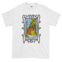 King of Wands Tarot Card Unisex Adult Ringspun Cotton Relaxed Fit T-shirt