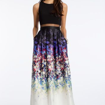 Floral Print Illusion Two-Piece