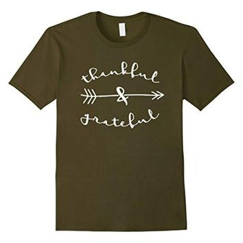 Thankful & Grateful Tshirt   Thanksgiving   Christmas Shirts