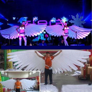 4m, 13ft Big White Inflatable Angel Wings Cosplay Show Costume