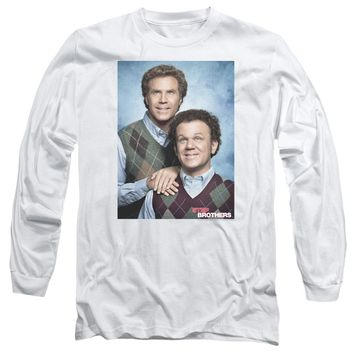 Step Brothers Long Sleeve T-Shirt Portrait White Tee